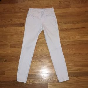 High Rise Skinny White Pull on Jag Jeans